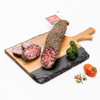 Salchichón a la pimienta(Pieza 300 grs aprox.)